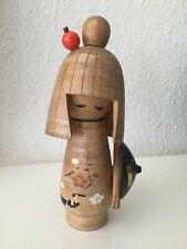 Kokeshi Japan alte Holzpuppe signiert Handarbeit