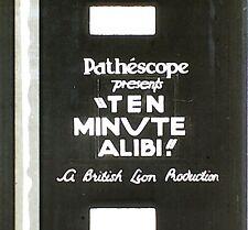 9.5mm FILM - TEN MINUTE ALIBI  -  1935  -  B/W  -  SOUND  -  2 X 900'