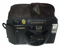 Vintage Canon Snappy S 35MM fully automatic camera with built in flash w/Case!