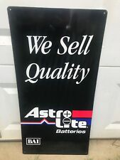 Astro Lite Batteries Metal Sign By Douglas Battery Gas Oil Auto Garage