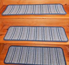 15 = Step 9'' x 30''  Woven Wool  carpet  Backing Jute Stair Treads .