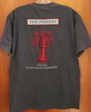FISHERY seafood restaurant med T shirt Pacific Beach tee Cali lobster San Diego