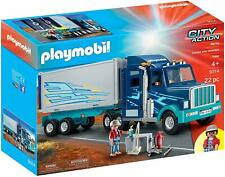 Playmobil 9314 City Action Big Rig Lorry Truck Trailer 22 Piece Set - Brand New