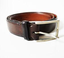 Giorgio Zoni Classic Italian Mens Leather Belt Brown Size 40