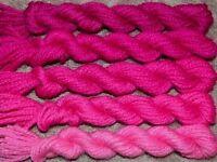 New Paternayan Wool 3ply Persian Yarn Needlepoint Crewel 350 Fuchsia Assortment