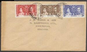 NIGERIA 1937 CORONATION FDC KGVI (ID:563/D26081)