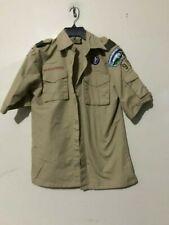 BSA Boy Scouts of America Uniform Shirt Webelos Youth L Tan Size L