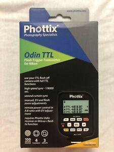 New in Box Phottix Odin TTL Flash Trigger Transmitter for Nikon