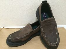 ☀️ Boys RALPH LAUREN Polo Brown Leather Slip On Dress Shoes Loafers Youth 2 MINT