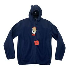 Reebok Men's Hybrid Softshell Hoodie Jacket Navy Medium