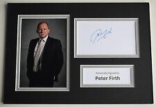 Peter Firth Signed Autograph A4 photo mount display Spooks TV AFTAL COA