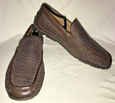 TOMMY BAHAMA NAPLES DRIVER ALL OVER WOVEN BROWN LOAFERS ($168) - 10.5M