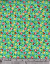 Poly Cotton Seer Sucker prints   by the yard     1354 24562 tur1