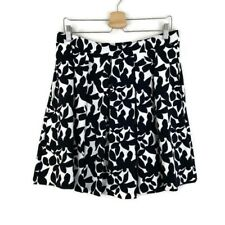 Cynthia Rowley Black White Floral Circle Full Skirt With Pockets Size Large