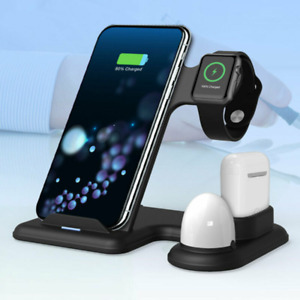 3 in 1 Wireless Charger Stand Air Pods Charging Dock For iPhone Apple Watch MK