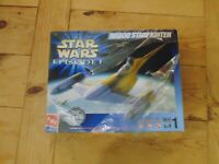 Star Wars Episode 1 Die Cast Naboo Starfighter Kit Boxed Hasbro