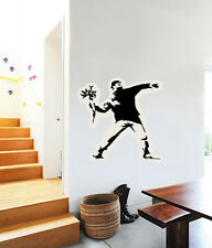 "Bansky Graffiti Flower Thrower Wall Decal Large Vinyl Sticker 23"" x 23"""