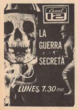1971 TV AD~LA GUERRA SECRETA~XETV SAN DIEGO~MEXICAN TV SHOW~SKELETON~CHANNEL 12