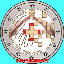 "PORTUGAL 2015  2 EURO CC "" CROIX ROUGE "" COULEUR/COLOR/ KLEUR/COLORIERT NEW"