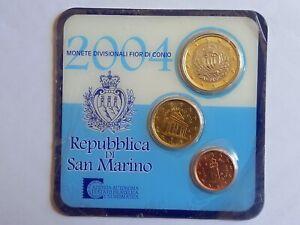 MINI SET KIT 2004 DE 3 MONNAIES SAN MARINO - NEUF
