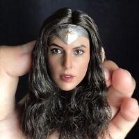 Wonder Woman 1/6 Scale Gal Gadot Head Sculpt For PHICEN Female Figure Body Toys