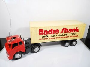 Vintage Radio Shack RC Battery Powered Semi Truck Tractor Trailer