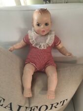 Gerber Baby Doll Vintage 1979 Red White Gingham With White Bib & Moving Eyes