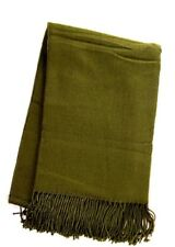 """Simplicity Cozy Cold Weather Woven 50"""" x 70"""" Blanket Throw with Tassels, sage"""