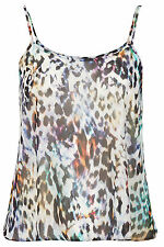 Topshop Size 10/38 PETITE Topshop Animal Print Sheer Chiffon Cami Top/Vest New