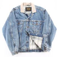 Vintage WRANGLER Blanket Lined  Blue 90s Regular Casual Denim Jacket Mens M