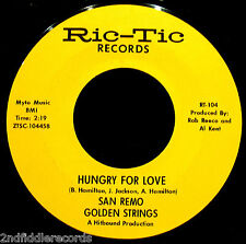 SAN REMO GOLDEN STRINGS-Hungry For Love & All Turned On-Funk+Soul-RIC TIC #104