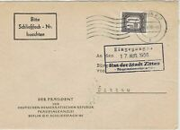 German Democratic Rep. 1956 Internal Use Berlin Cancel Stamps Cover Ref 24430