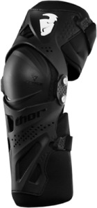 Thor Force XP Black Knee Guards Adult size Small Medium SM MD 2704-0359