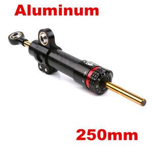 Black Carbon Fiber Look Motorcycle Universal CNC Steering Damper Stabilizer Part
