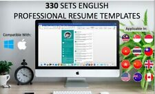 330 Sets Professional Resume Word Templates Cv Pack And Cover Letter Download