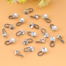 20 Pcs Buttons Collar Extenders Waistband Expanders Shirts Trousers Jeans Silver