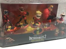 Disney Pixar The Incredibles 2 Family Figurine Pack Play Set (New) 2018