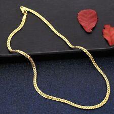 18k Goldkette Kette vergoldet gold Halskette massiv Panzerkette Herren 50cm/5mm
