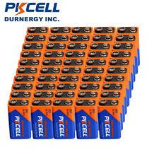 50pcs 9Volt 6LR61 Industrial Alkaline Batteries For PKCELL