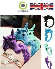 WOMEN STUNNING CANDY COLOUR UNICORN FINGER RING ENAMEL HORSE PARTY JEWELRY RING