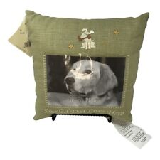 """""""Spoiled Dog Lives Here"""" Embroidered Pillow with Photo Insert~Nwt"""