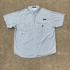 Columbia Pfg Mens Super Bonehead Plaid Fishing Vented Omni Shade Shirt Size 2Xl