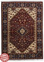 Handmade Area Rug Red  'Lasthe' Oriental Rug 100% Hand Knotted Wool Carpet 4x6ft