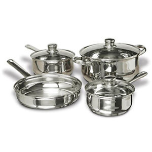 Concord 7-Piece Stainless Steel Cookware Set, includes Pots and Pans