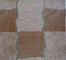 Australian Aboriginal Quilting Fabric Bush Onion Dreaming Brown Sewing Craft FQ