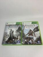 Assassin's Creed Lot of 2 Black Flag Assassin's Creed 3 Xbox 360 Tested and Work