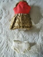 "Topper Corp Dawn 6"" Doll Replacement Dress & Underwear 1970"