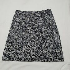 CATO Sz 16W Skirt Womens Animal Print Flat Curved Below Knee Fully Lined CUTE