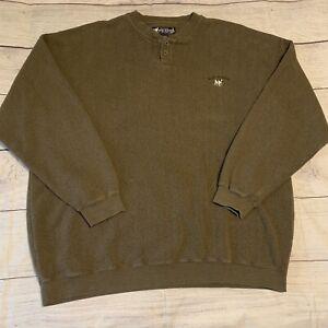 Big Dogs Henley Sweatshirt Green size XXL 2XL