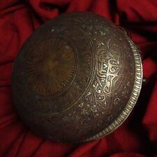 Antique Ottoman Tugra Bronze Hamam Tasi Spa Turkish Bath Bowl Dish Islamic East